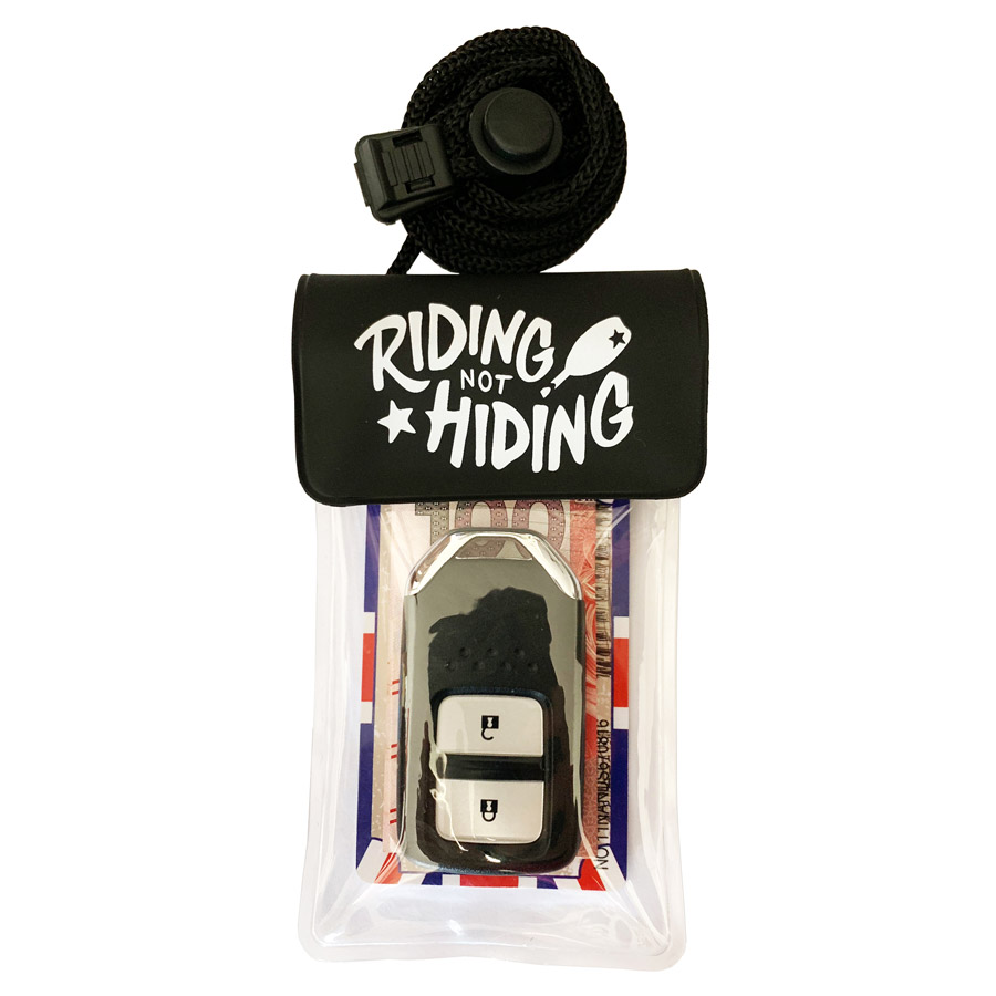 Riding Not Hiding Key Case